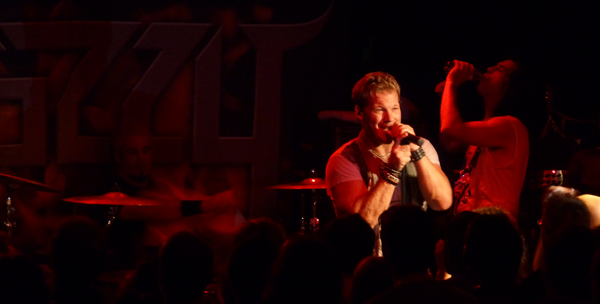 Fozzy on stage during the encore at Dingwalls in Camden