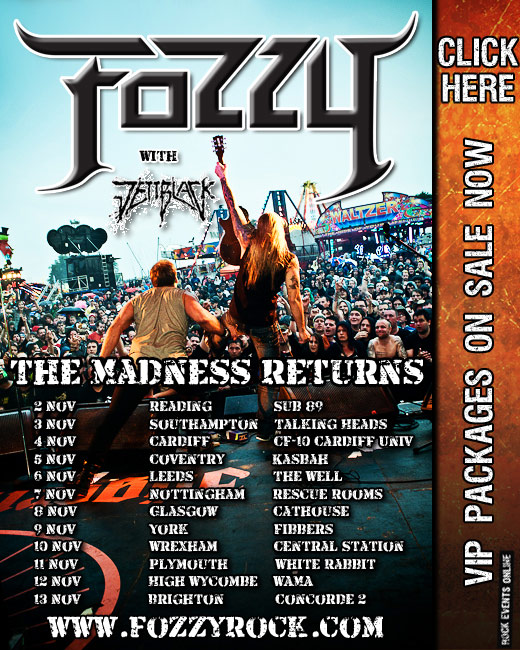 Fozzy The Madness Returns Tour Poster