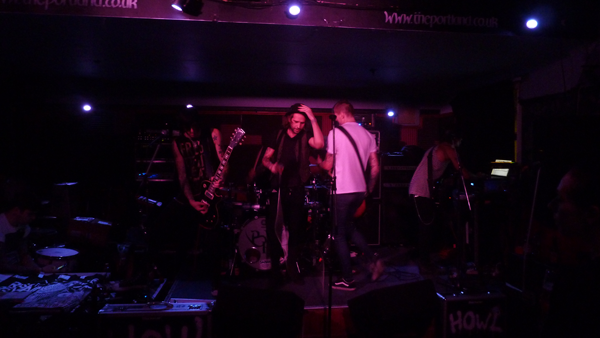 The Howling on stage at The Portland Arms Cambridge