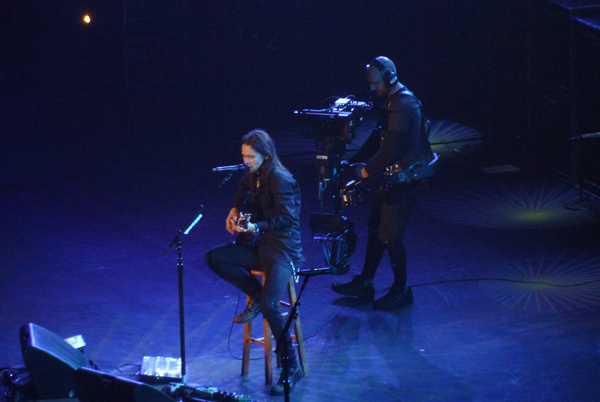Myles Kennedy of Alter Bridge singing Watch Over You acoustic at Wembley Arena, London