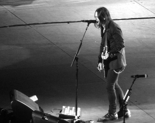 Myles Kennedy from Alter Bridge on stage at Wembley Arena
