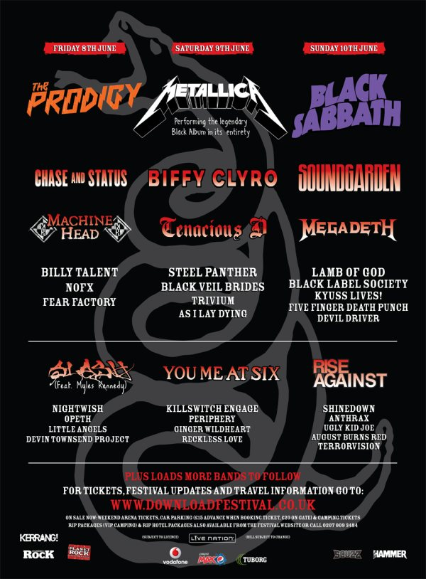 Download Festival 2012 latest poster