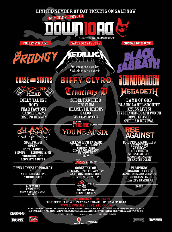 Download Festival 2012 Newest Poster