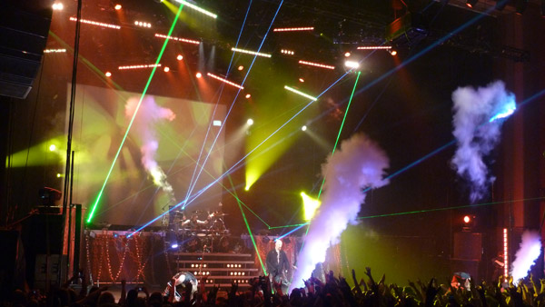 Judas Priest on stage at the Hammersmith Apollo London May 2012