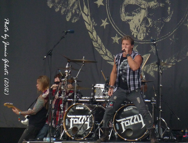 Chris Jericho & Fozzy on stage at Download Festival 2012