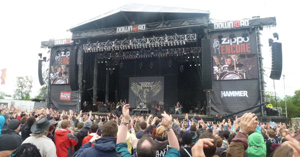 Fozzy performing Enemy at Download Festival 2012