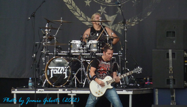 Billy and Frank of Fozzy on stage at Download 2012