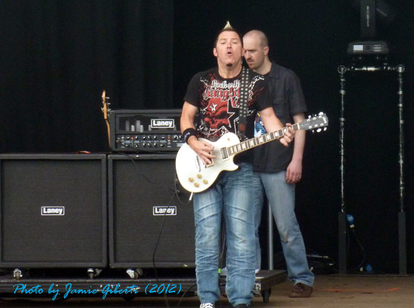 Billy Grey, guitarist of Fozzy on stage at Download Festival 2012
