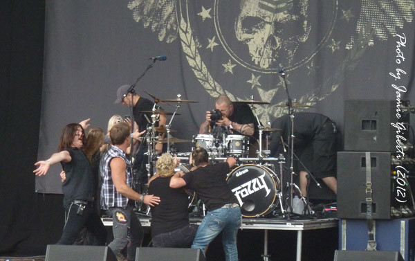 Fozzy after their performance at Download 2012
