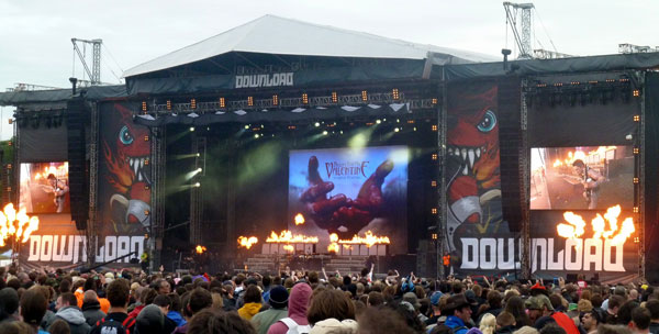 Bullet For My Valentine on stage at Download 2013