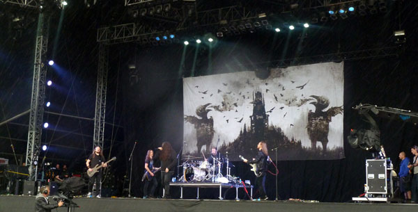 Katatonia on stage at Download 2013