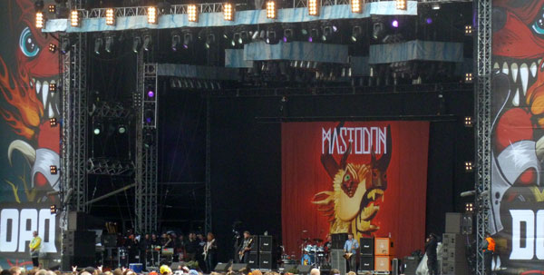 Mastoson on stage at Download 2013