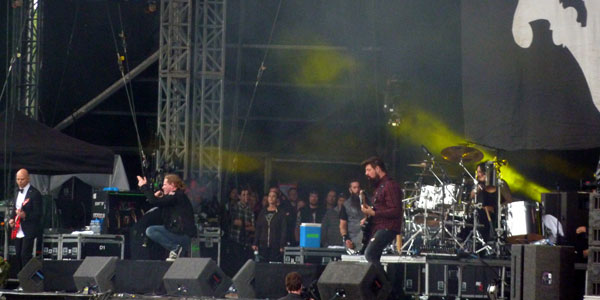 Stone Sour on stage at the 2013 Download Festival