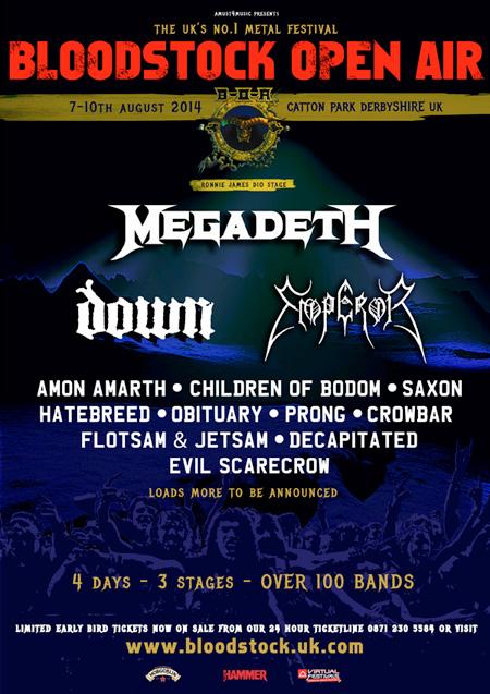 Bloodstock Open Air Festival 2014 Latest Poster