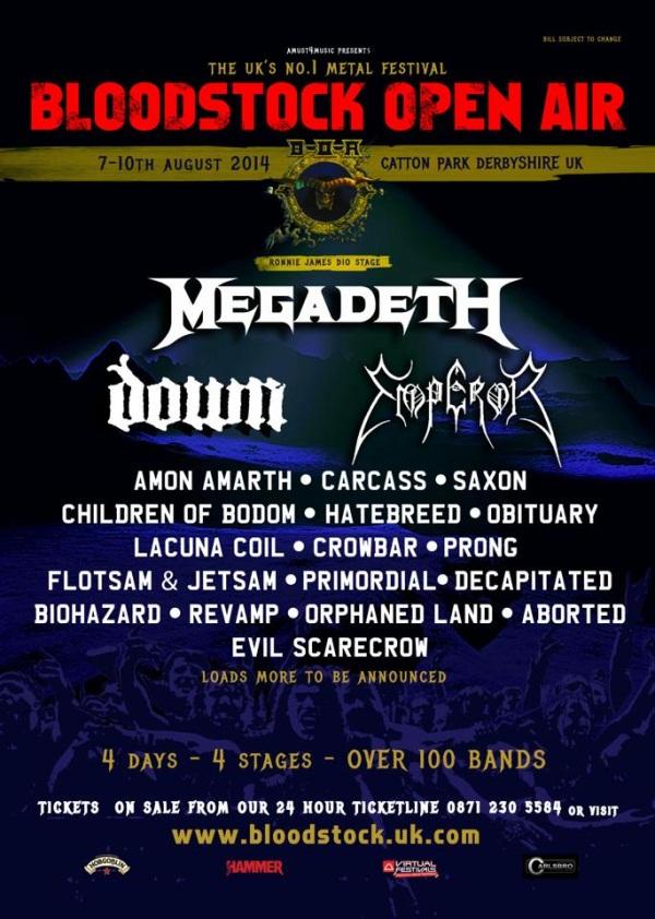 Bloodstock Festival 2014 January 14th Latest Poster