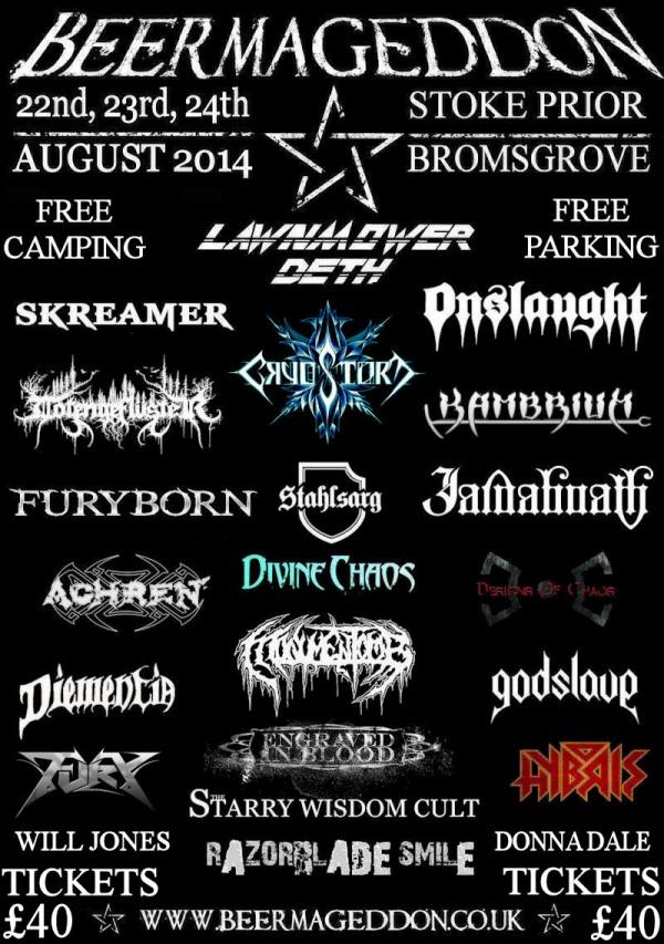 Beermageddon Festival 2014 Line Up Poster