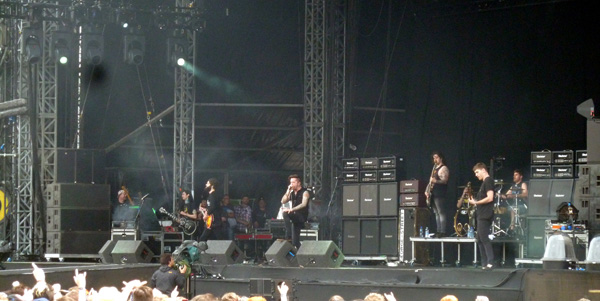 Bury Tomorrow on stage at Download Festival 2014