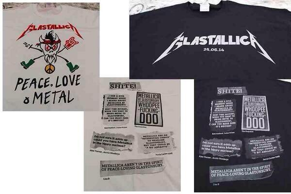 Metallica's glastonbury t-shirts poke fun at the criticism their booking received.