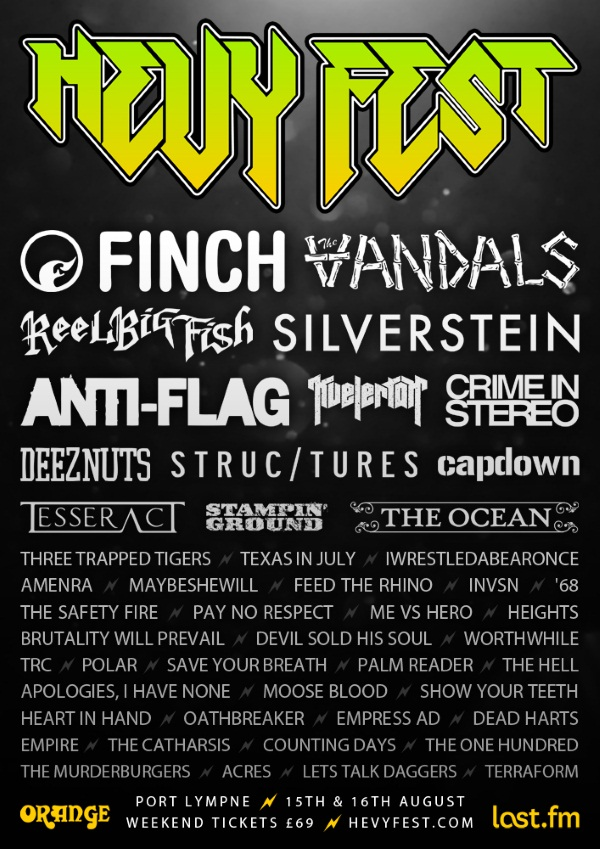 Hevy Fest 2014 Final Line Up Poster