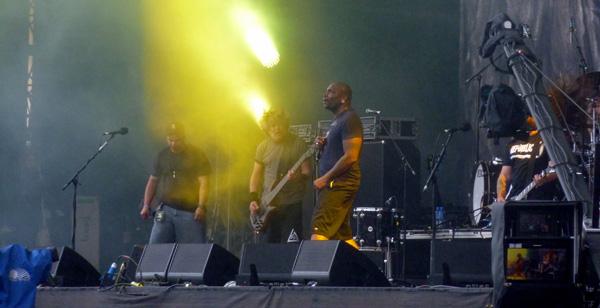 Sepultura performing at the Download Festival 2014