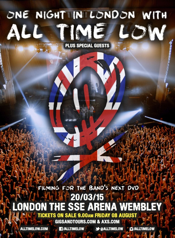 All Time Low One Night In London DVD Filming Show Wembley Arena Poster