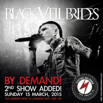 Black Veil Brides 2015 Electric Ballroom Poster