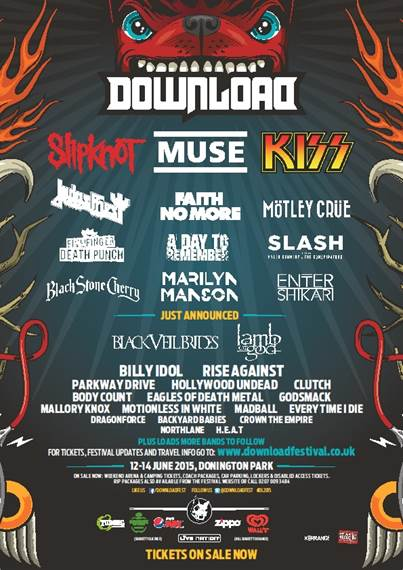 Download Festival 2015 Latest Poster 15th December 2014