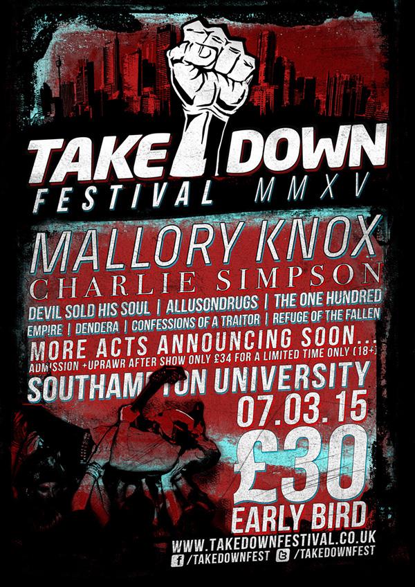 Takedown Festival 2015 Charlie Simpson Second Poster