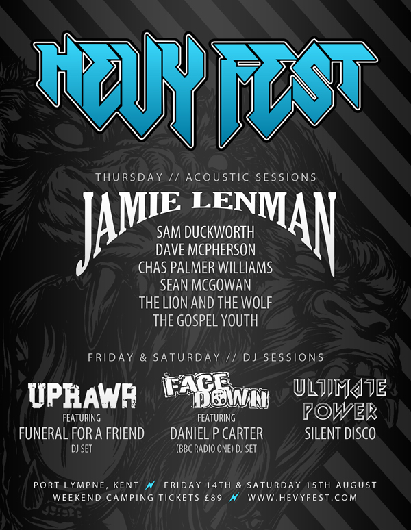 Hevy Fest 2015 Acoustic and DJ Sessions Poster