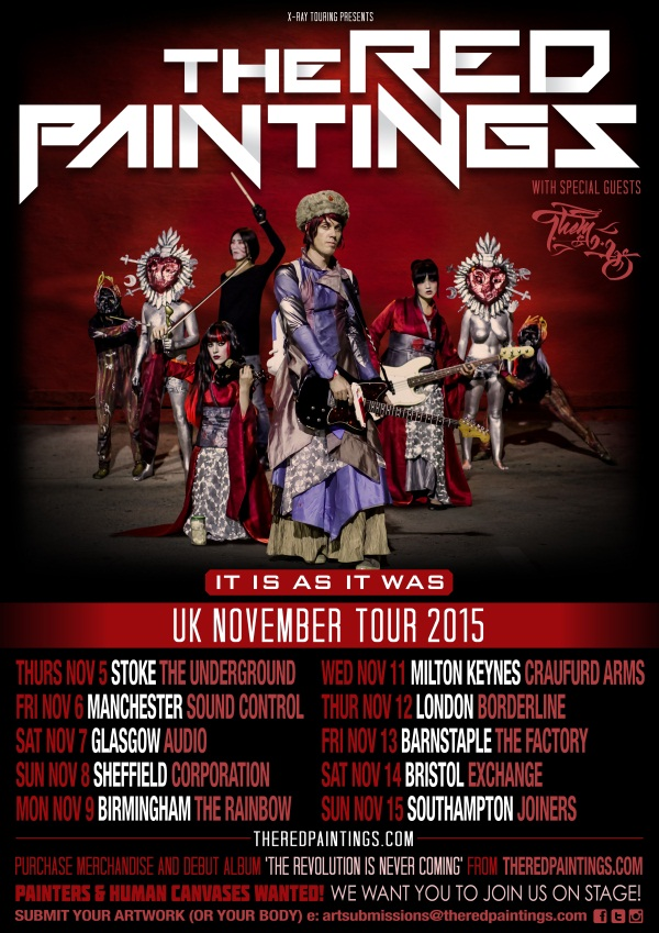 The Red Paintings November 2015 UK Tour Poster