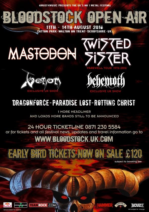 Bloodstock Festival 2016 3rd Poster