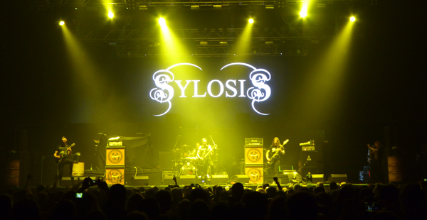 Sylosis on stage at Wembley Arena November 2015