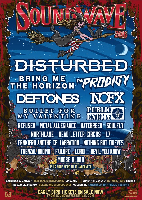 Soundwave Festival 2016 Line Up Poster