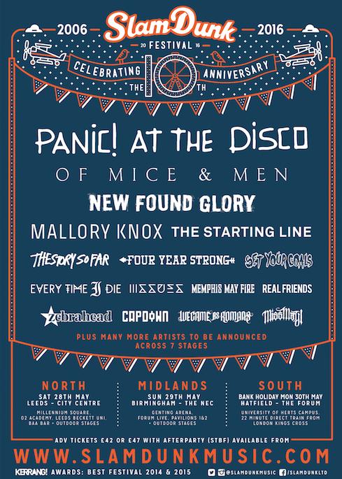 Slam Dunk Festival 2016 2nd Announcement Poster
