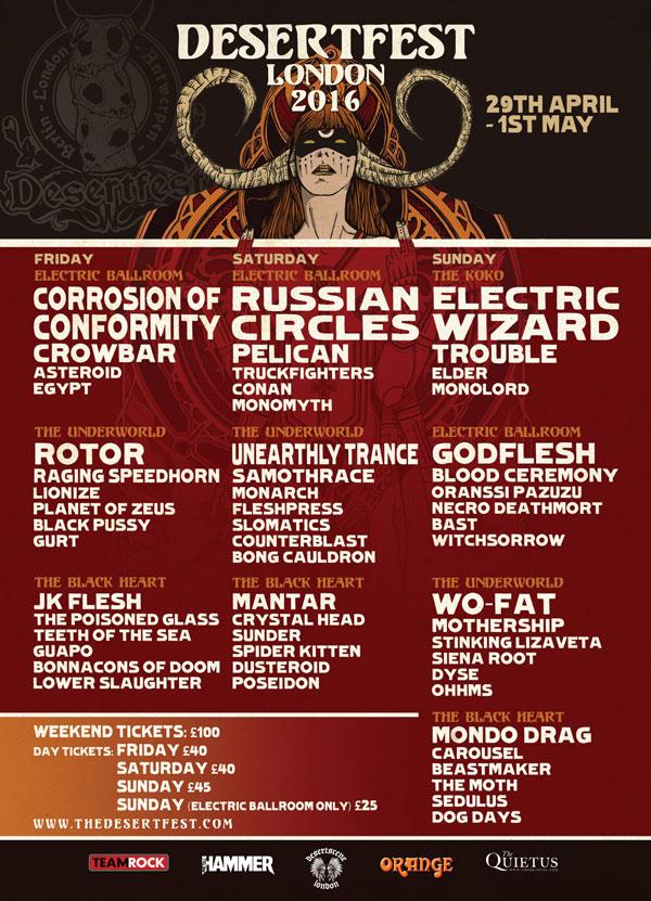 Desertfest 2016 Poster