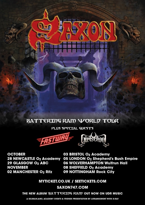 Saxon Autumn 2016 UK Tour Poster