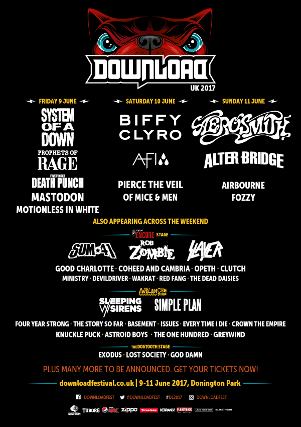 Download Festival 2017 Second Line Up Poster December Announcement