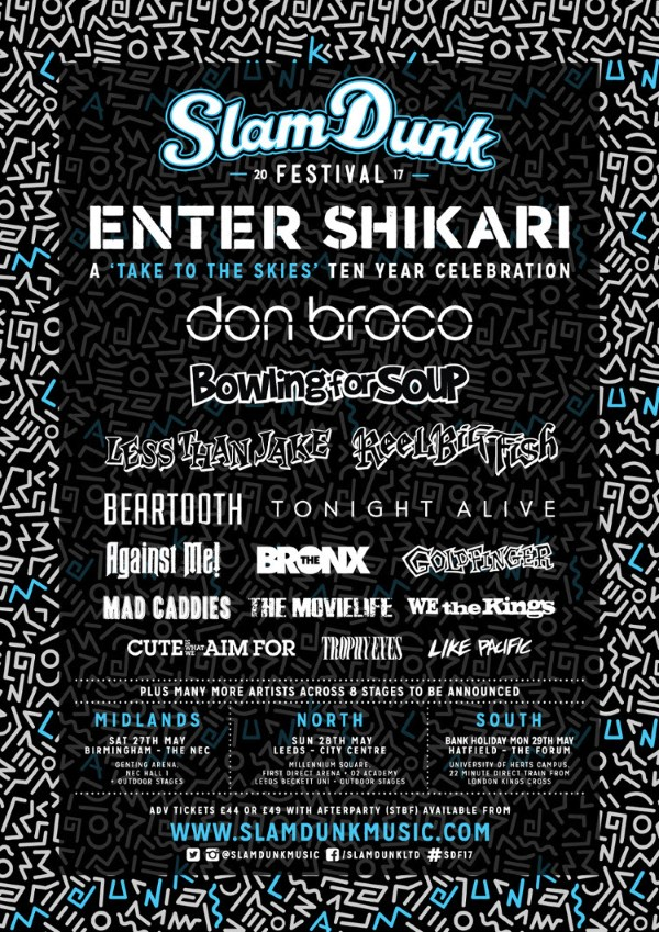 Slam Dunk Festival 2017 Second Line Up Poster
