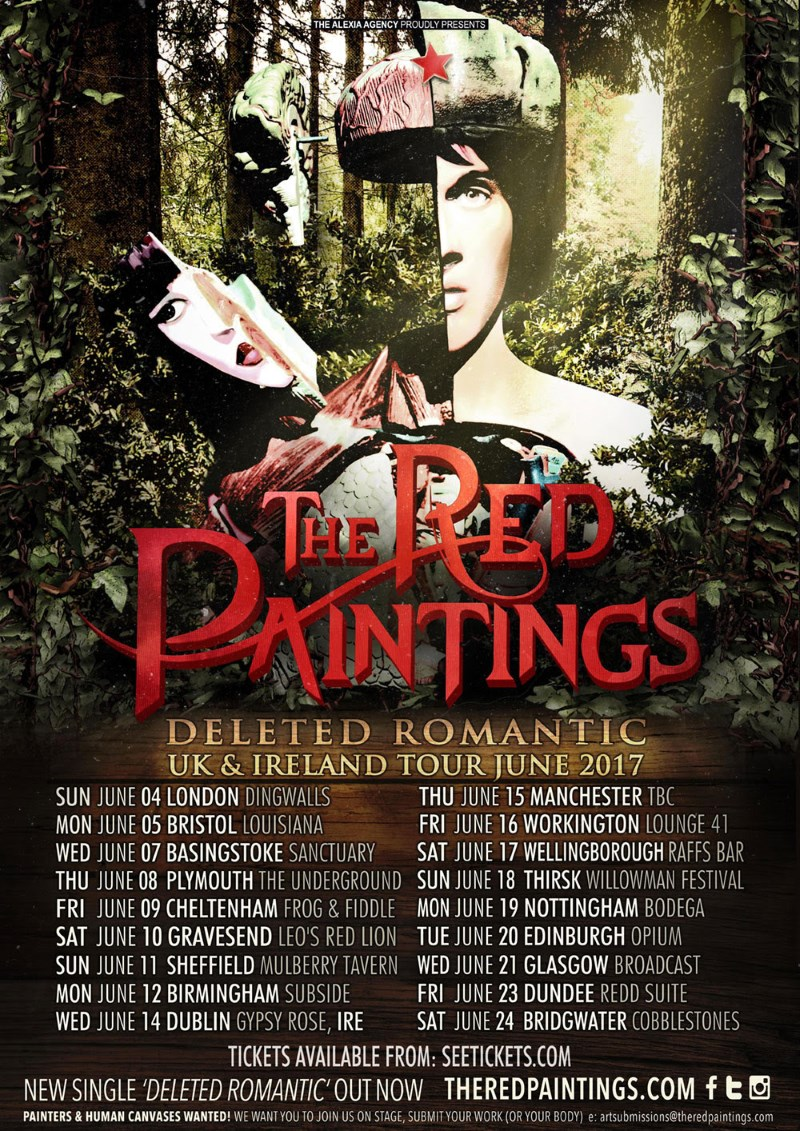 The Red Paintings Deleted Romantic 2017 UK Ireland Tour Poster