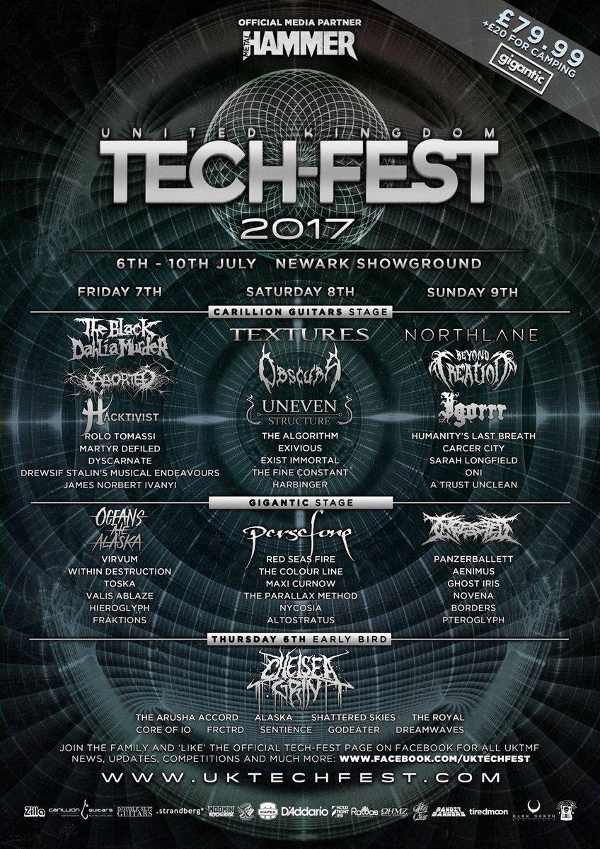 UK Tech-Fest 2017 Final Line Up Poster