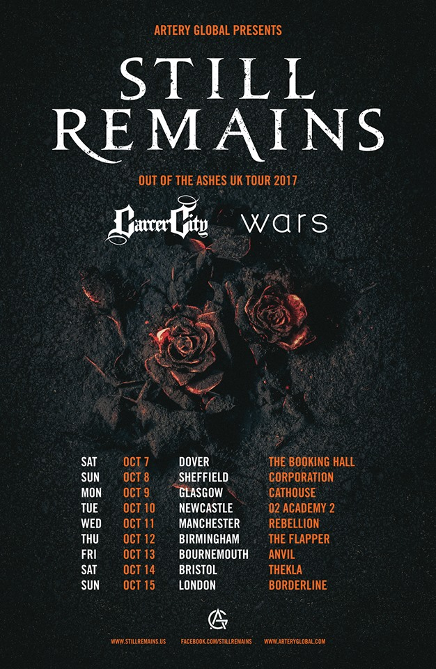 Still Remains October 2017 UK Tour Poster