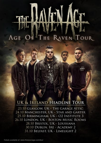 The Raven Age UK October 2017 Tour Poster