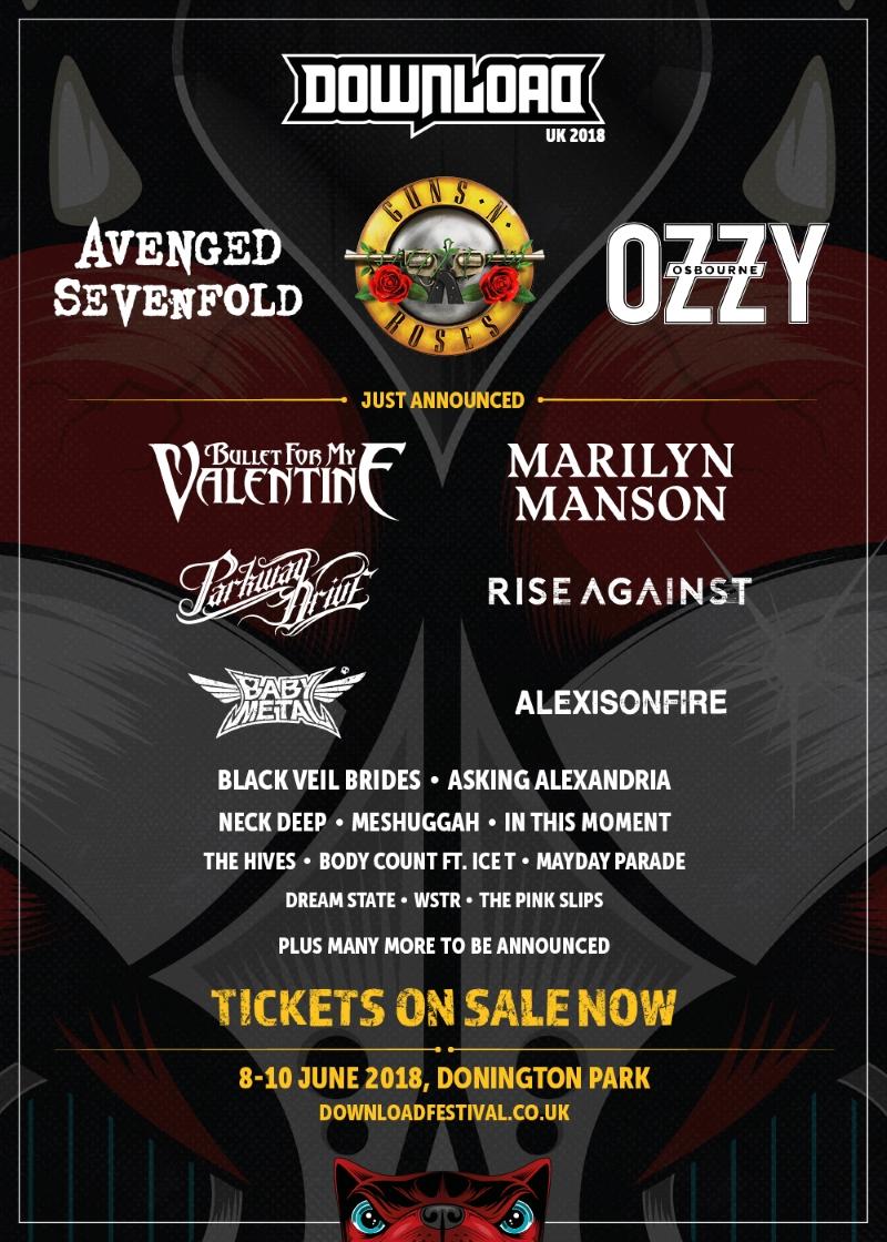 Download Festival 2018 Second Line Up Poster
