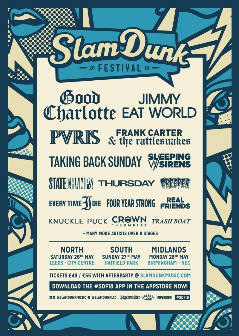 Slam Dunk Festival 2018 Co-Headliners Poster