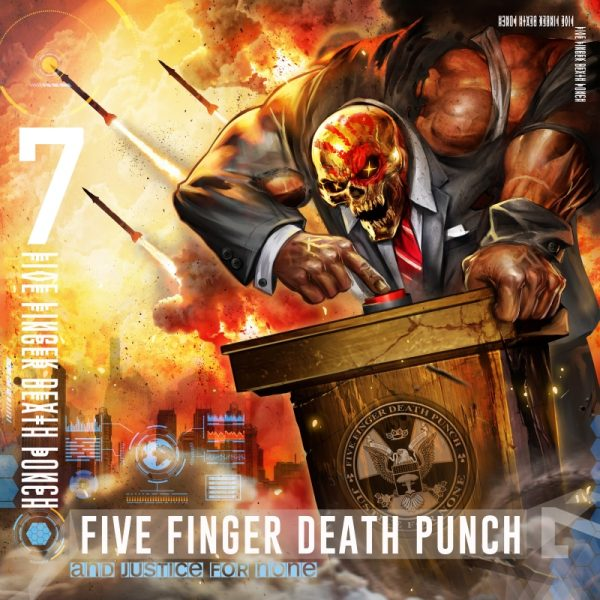 Five Finger Death Punch FFDP And Justice For None Album Cover Artwork
