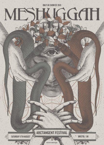 Meshuggah ArcTanGent Festival 2019 Poster