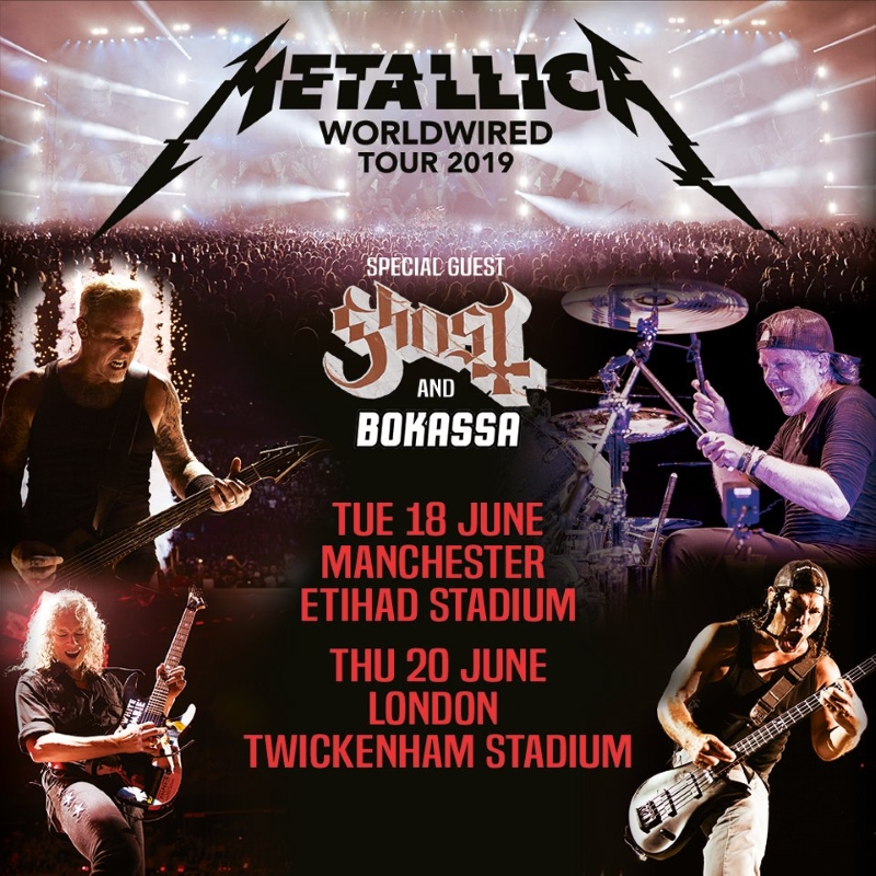 Metallica 2019 Worldwired Tour UK Shows Poster