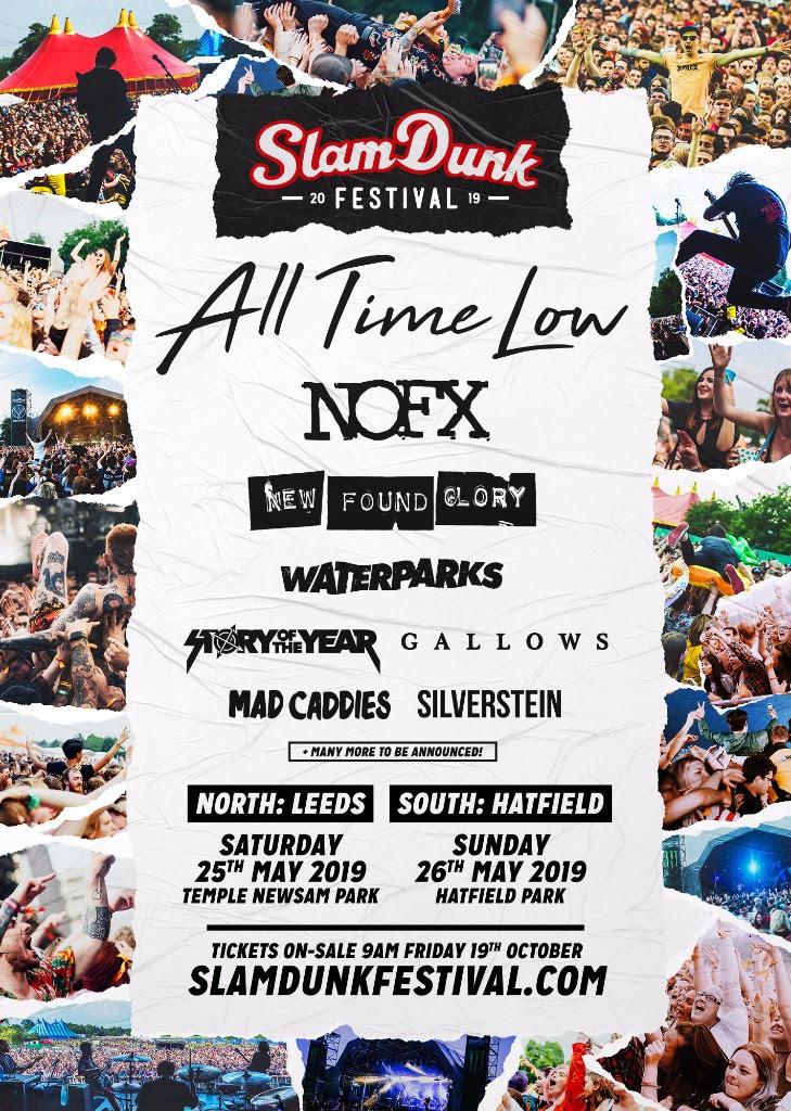 Slam Dunk Festival 2019 First Line Up Poster