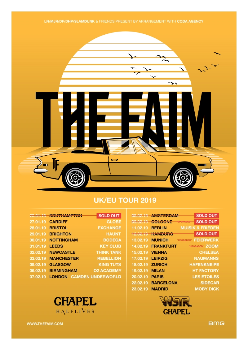 The Faim Halflives Tour Poster 2019 EU UK