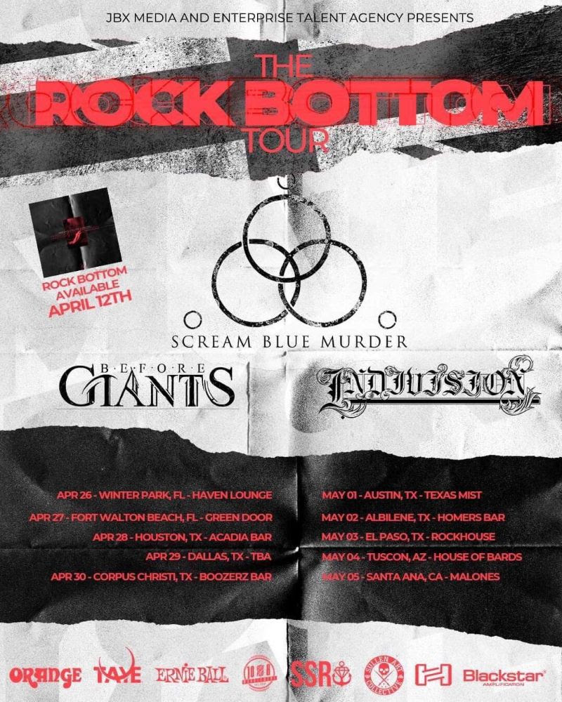 Scream Blue Murder US Tour Poster 2019